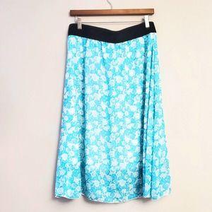 Lularoe Blue Rose Lola Skirt